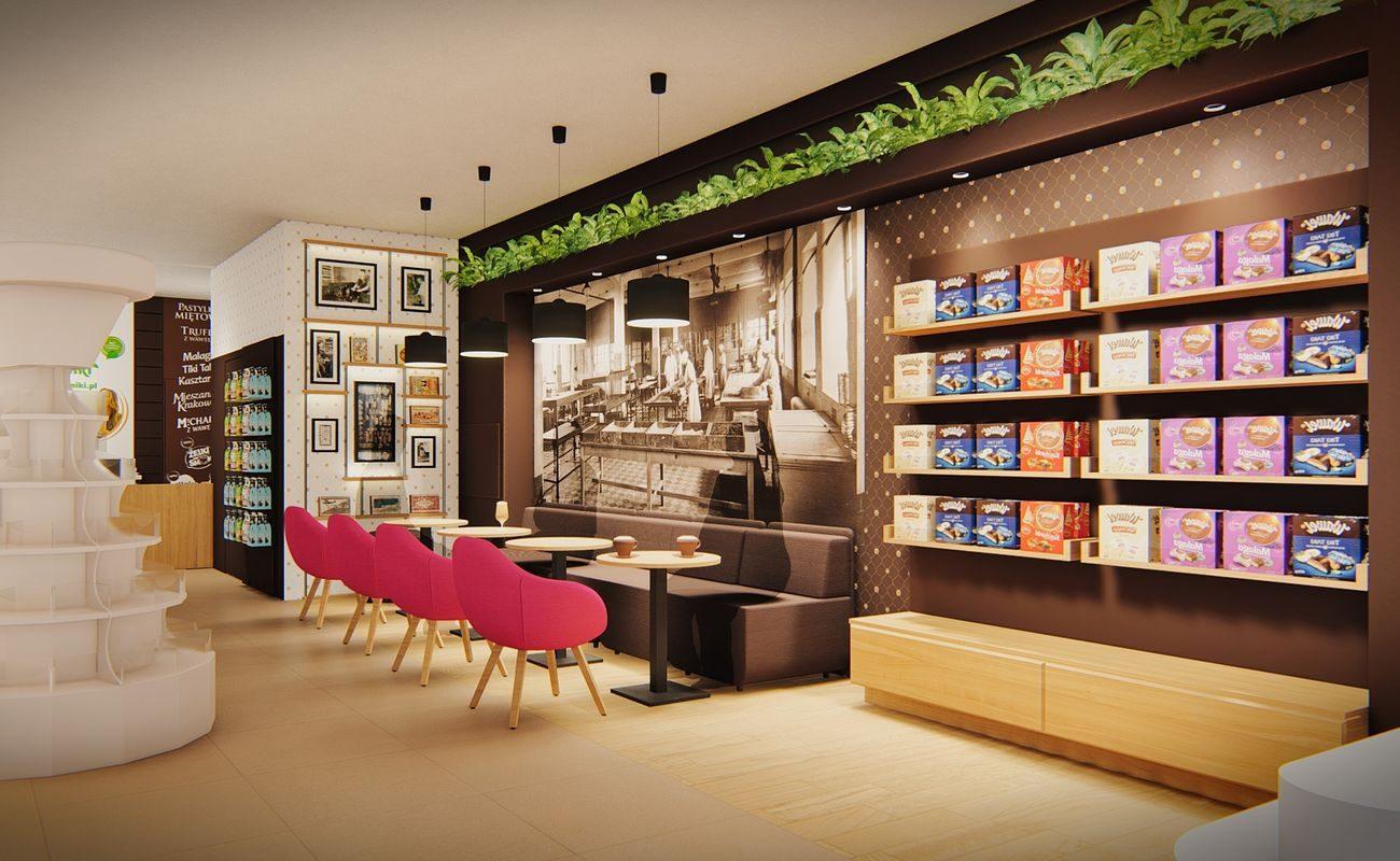 Wnętrze nowej kawiarni Wawel w Krakowie