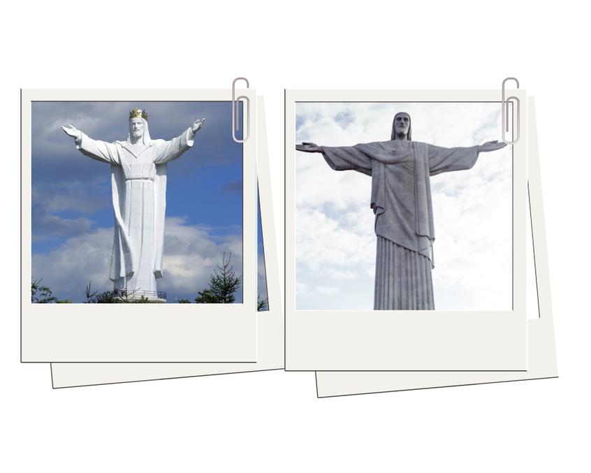 Odsłonięta w 2010 r. figura Jezusa Chrystusa Króla Wszechświata w Świebodzinie.