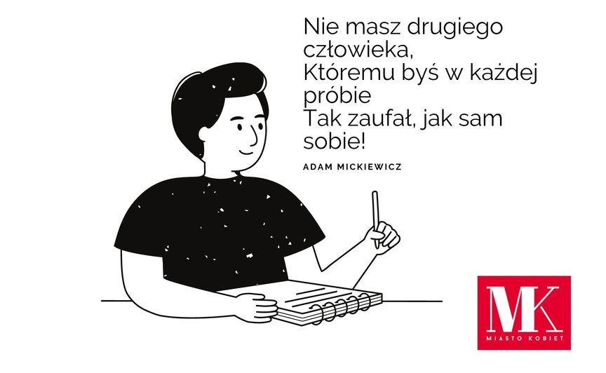 pisarz i cytat Adama Mickiewicza