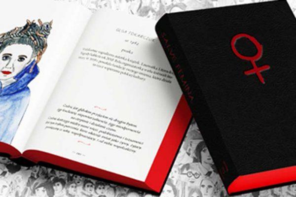Save femina, okładka książki i rozkładówka
